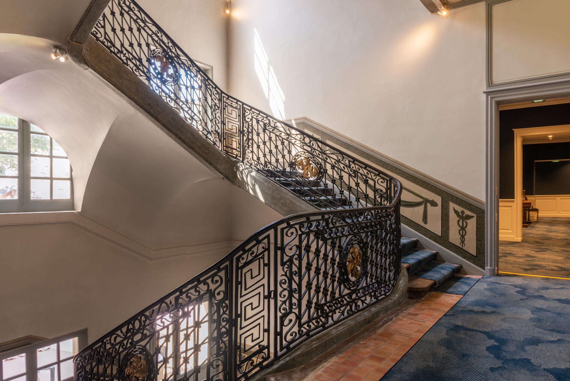 Stairs at Hotel Anne d'Anjou in Saumur, France