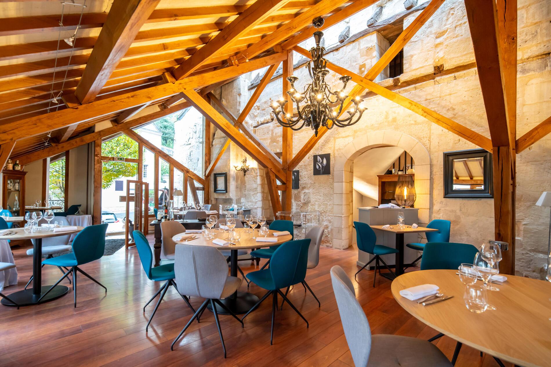 Restaurant at Hotel Anne d'Anjou in Saumur, France