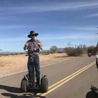 Tour guide on segway