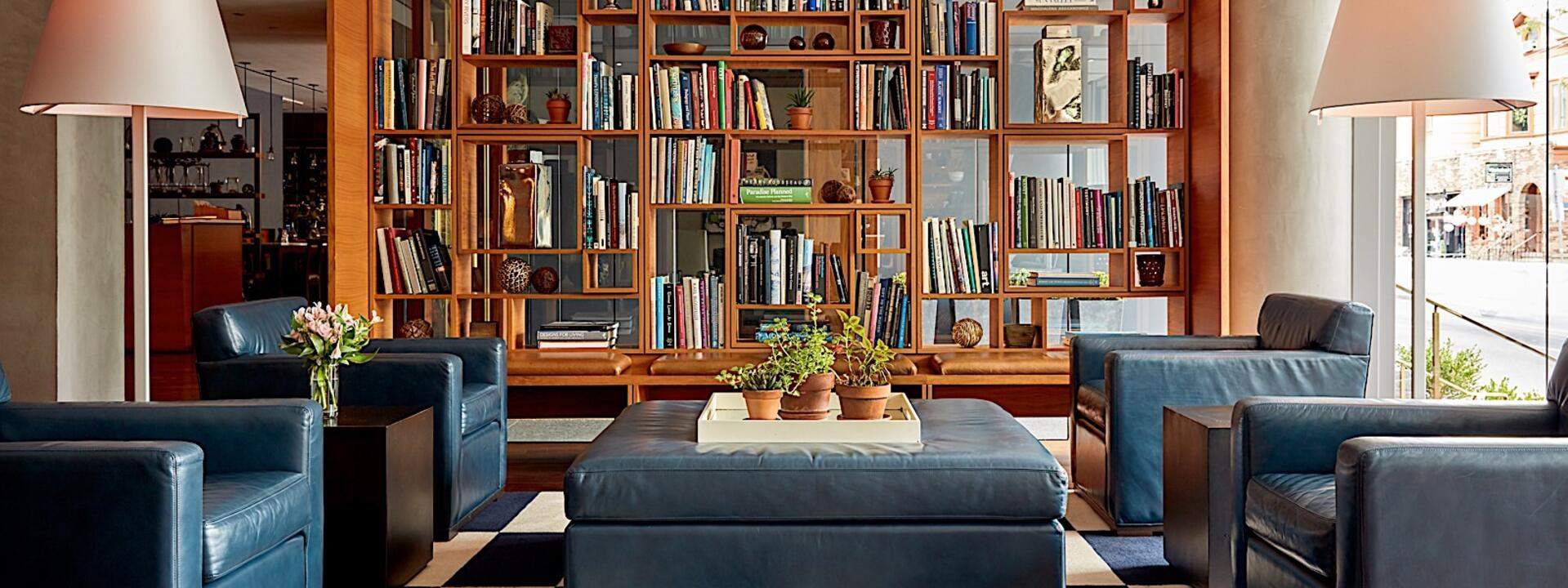The Study at Yale Living Room with bookcase