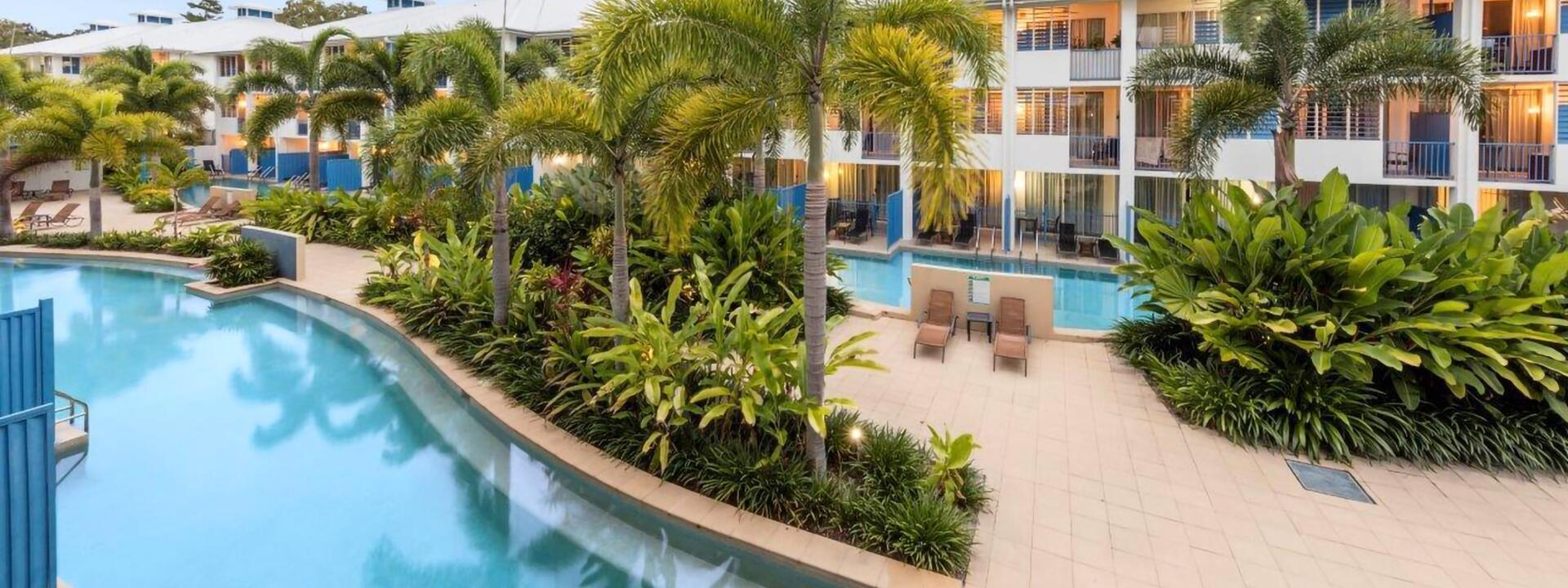 Swimming Pools by Lagoon Rooms at Silkari Hotel Port Douglas