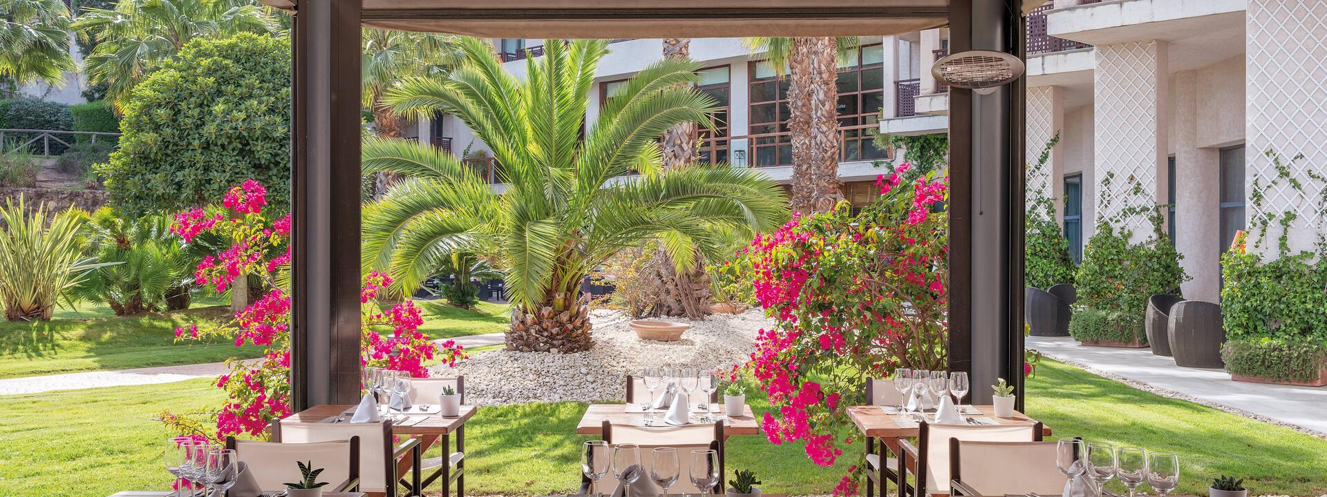 terrace restaurant at Precise Resort El Rompido