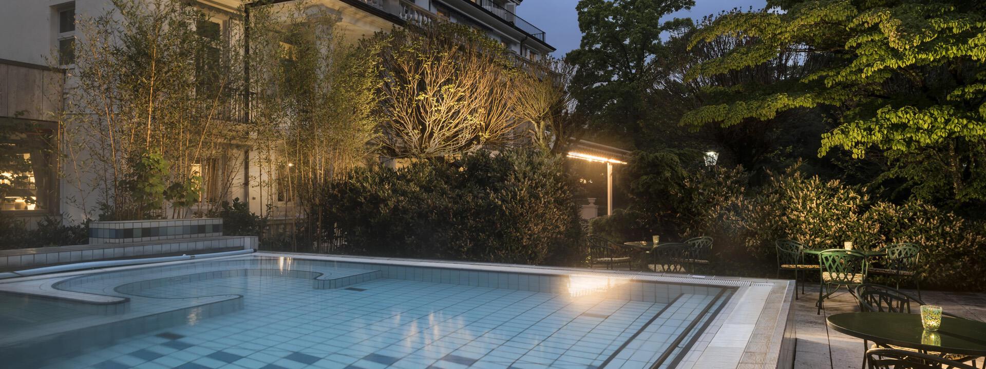 Outdoor pool view at Precise Resort Baden Baden