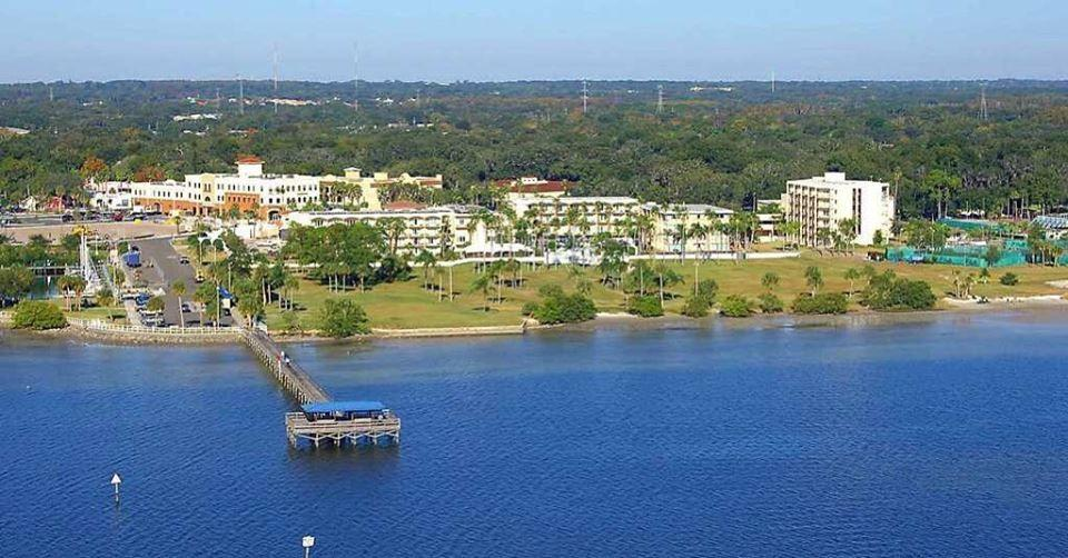Wide photo over Tampa Bay with Safety Harbor Resort in the backg