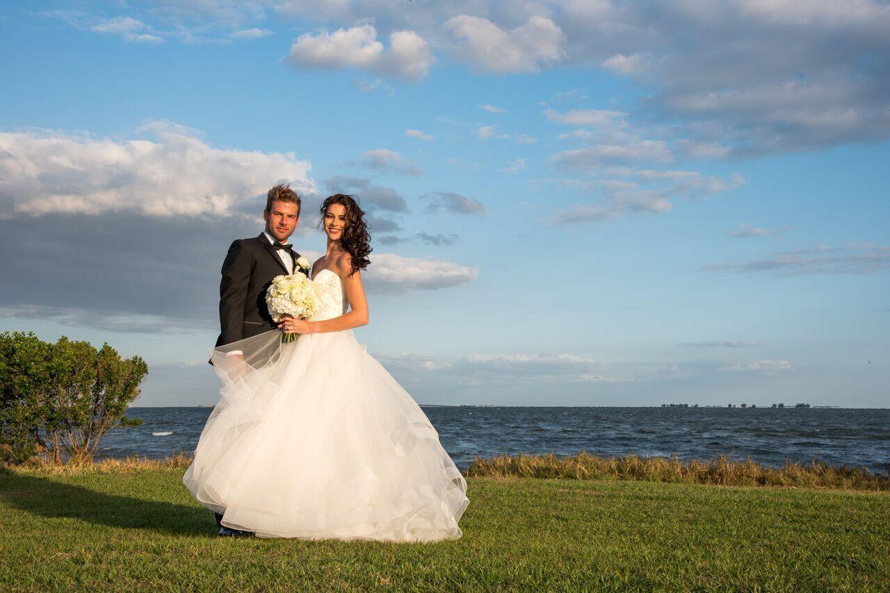 Newlyweds on Tampa Bay.