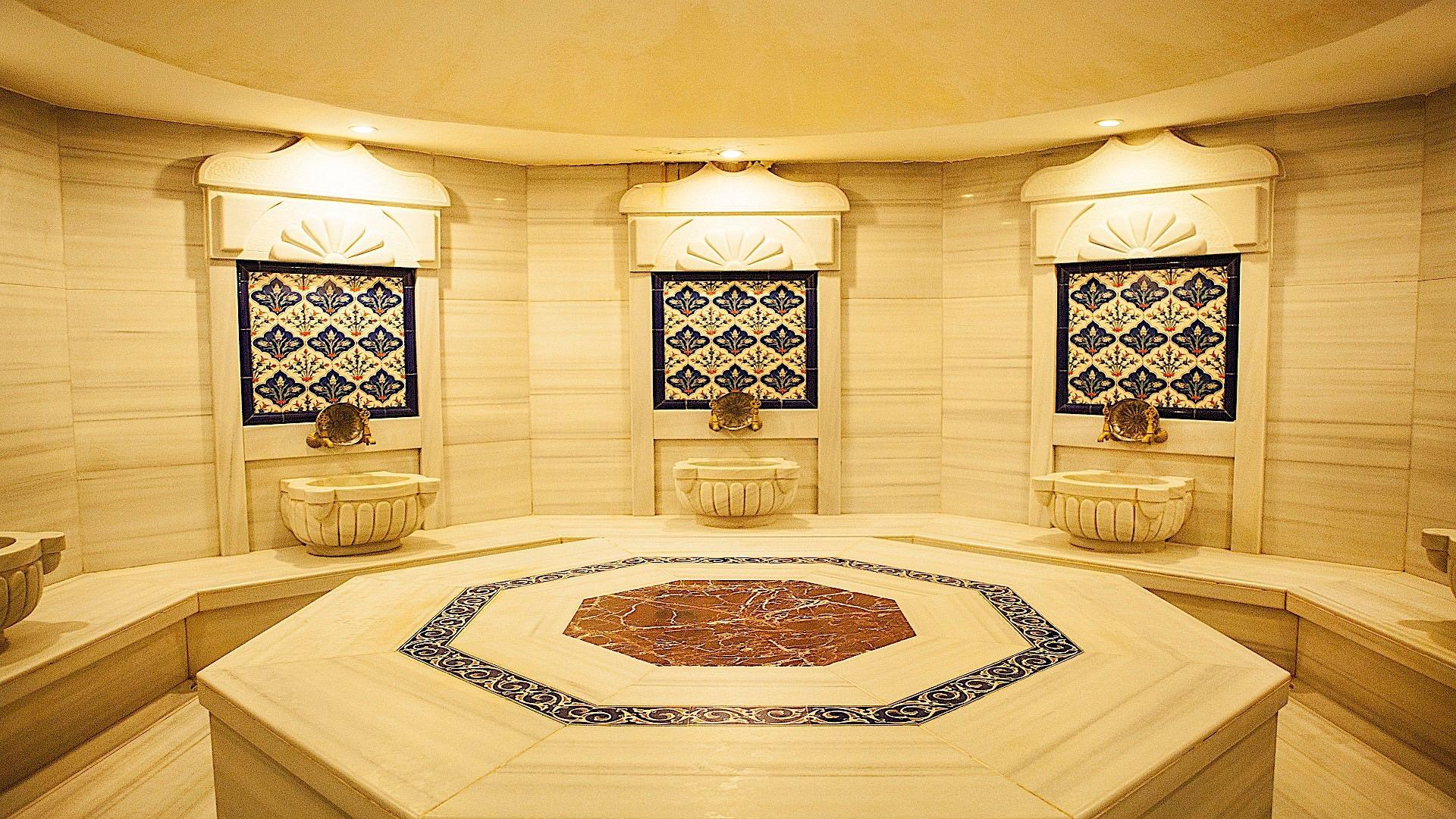 Turkish bath at Bilek Hotel Istanbul