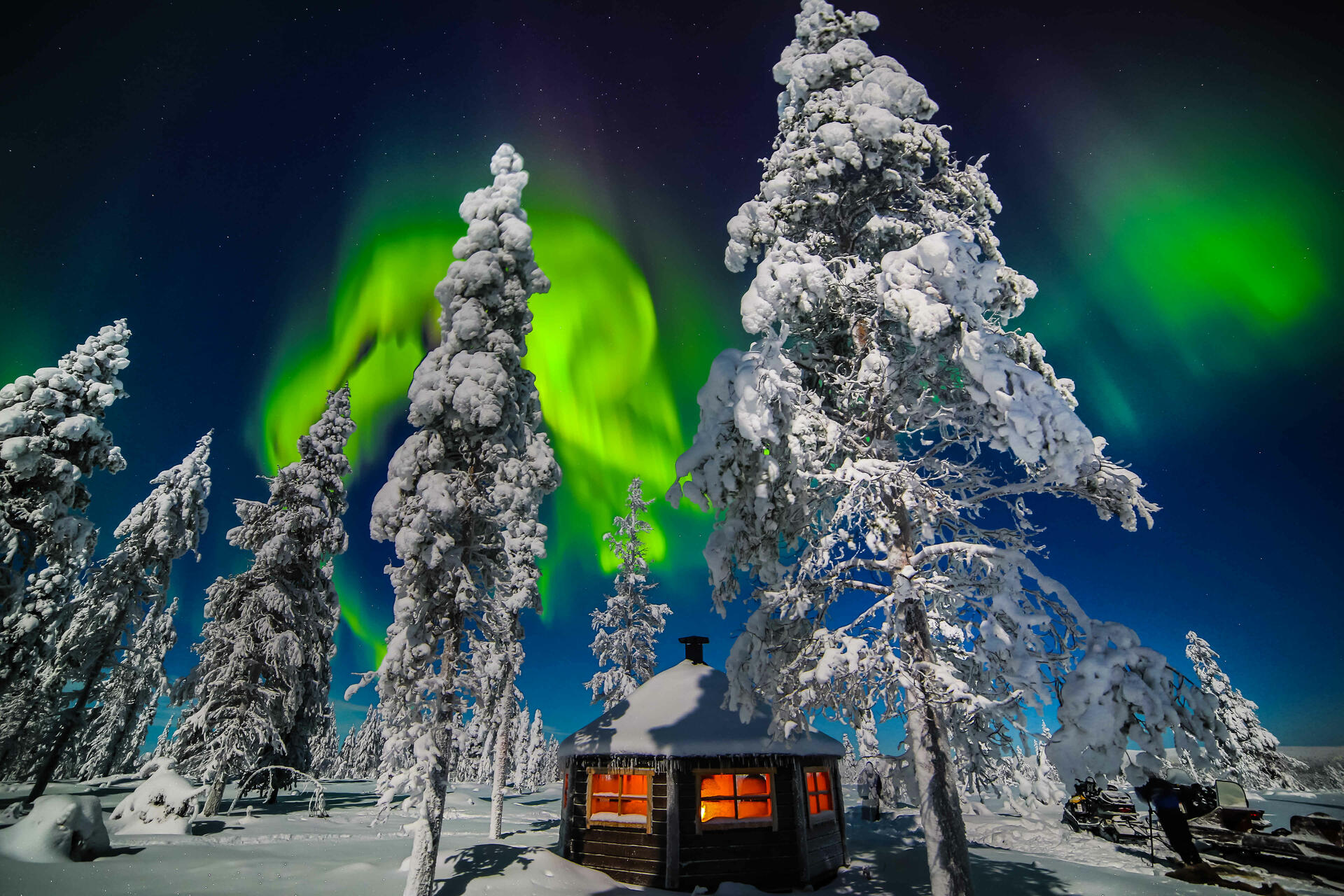 Accommodation at Northern Lights Village in Saariselkä, Lapland,