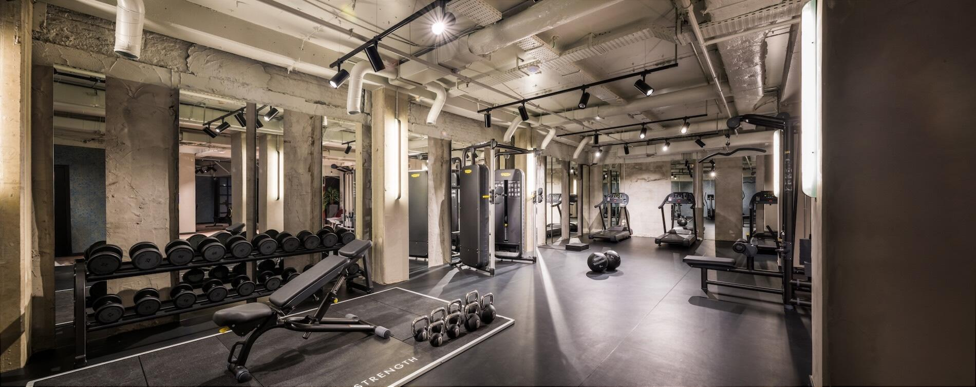 Gym at Hotel Hubert Brussels near Grand Place