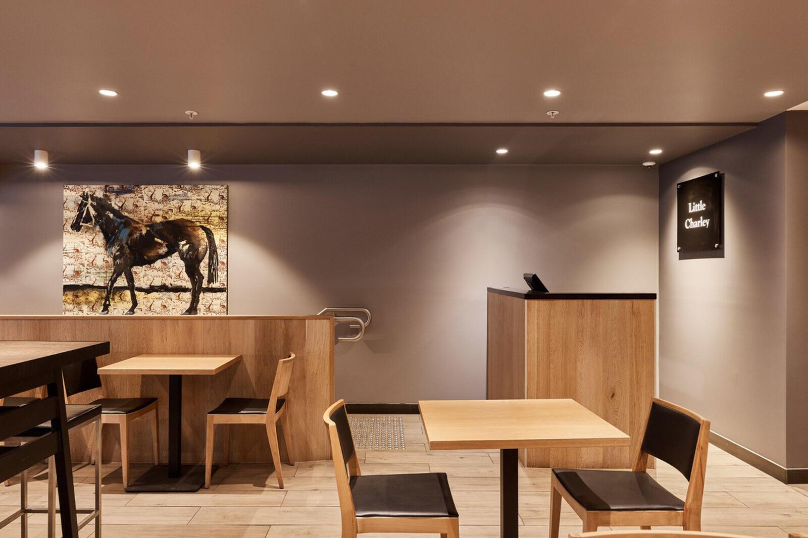 Café at Brady Hotel in central Melbourne