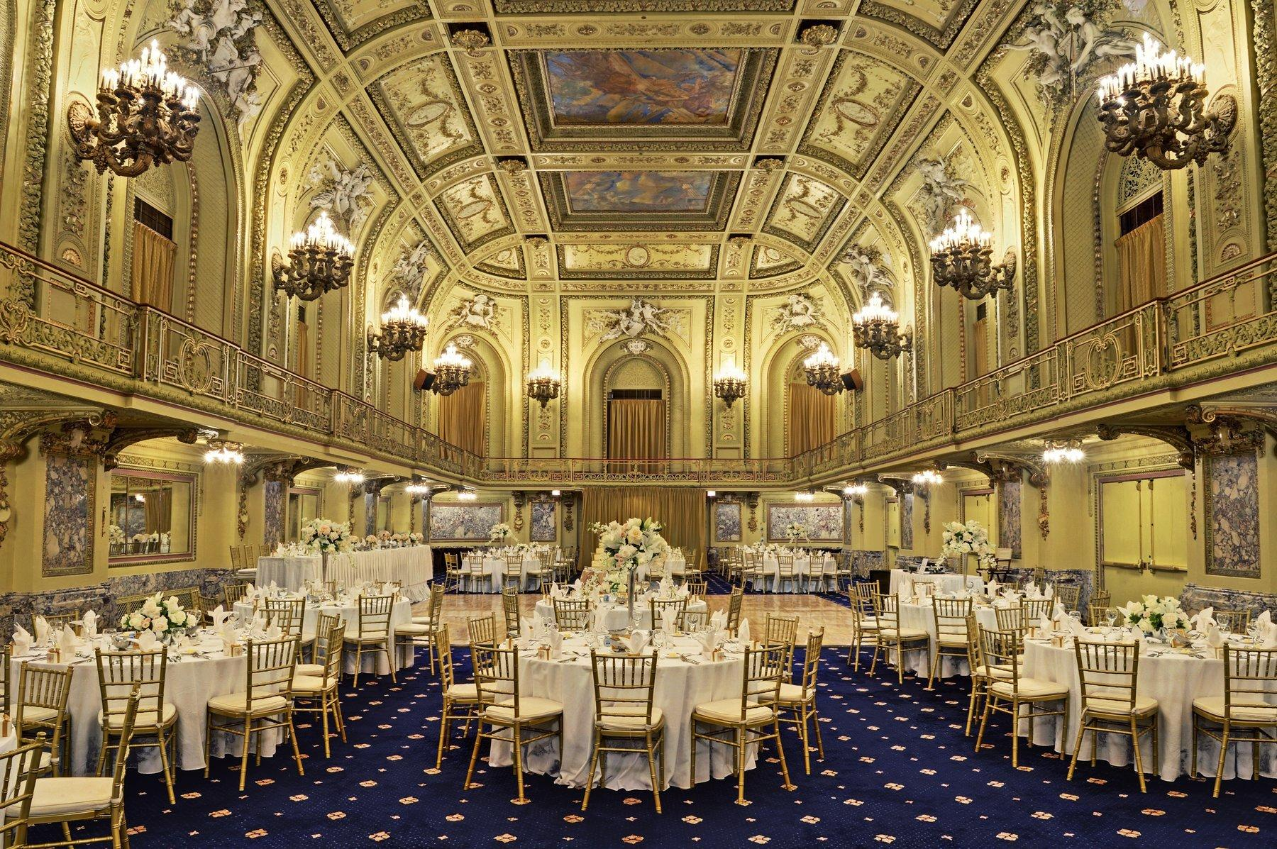 Wedding Reception in Gold Room