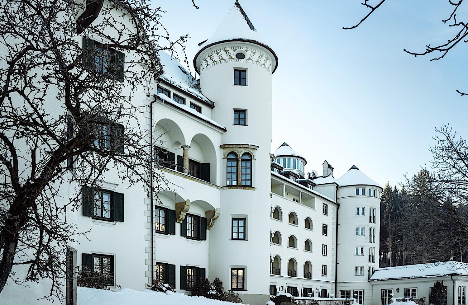 Winterliches Schloss Pichlarn