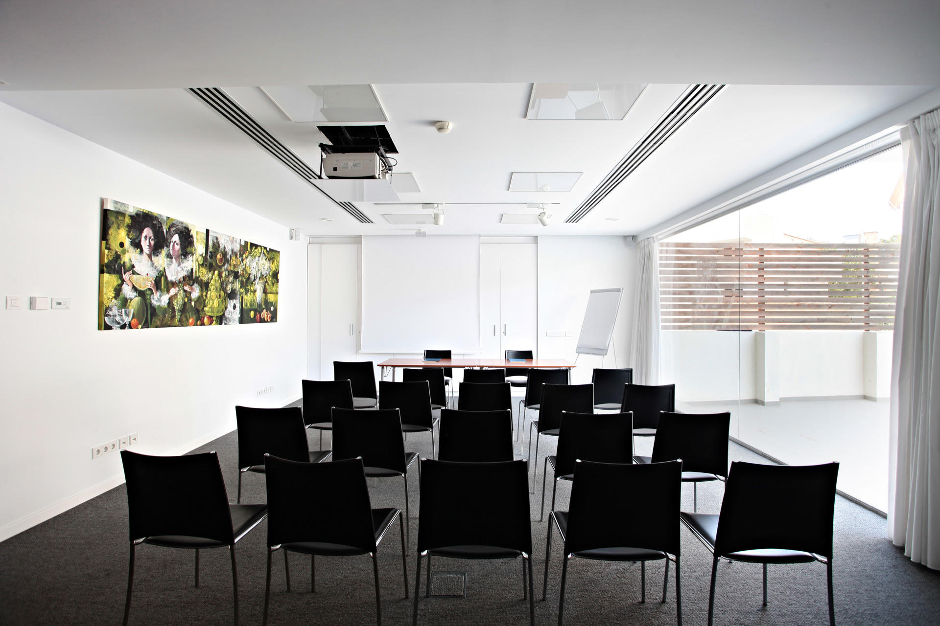 Conference room at Aimia Hotel in Port de Sóller, Majorca