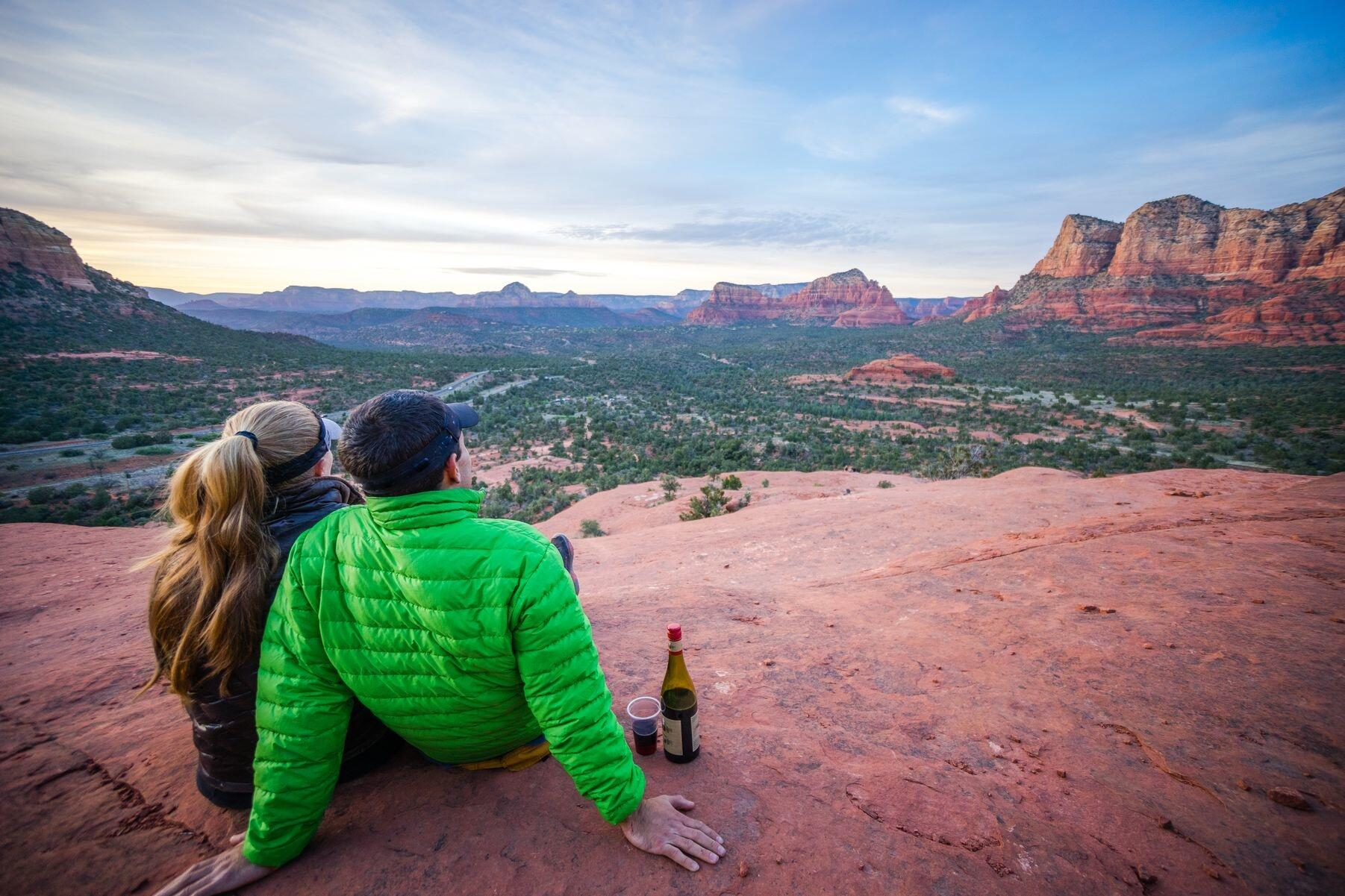 Sedona views with couple
