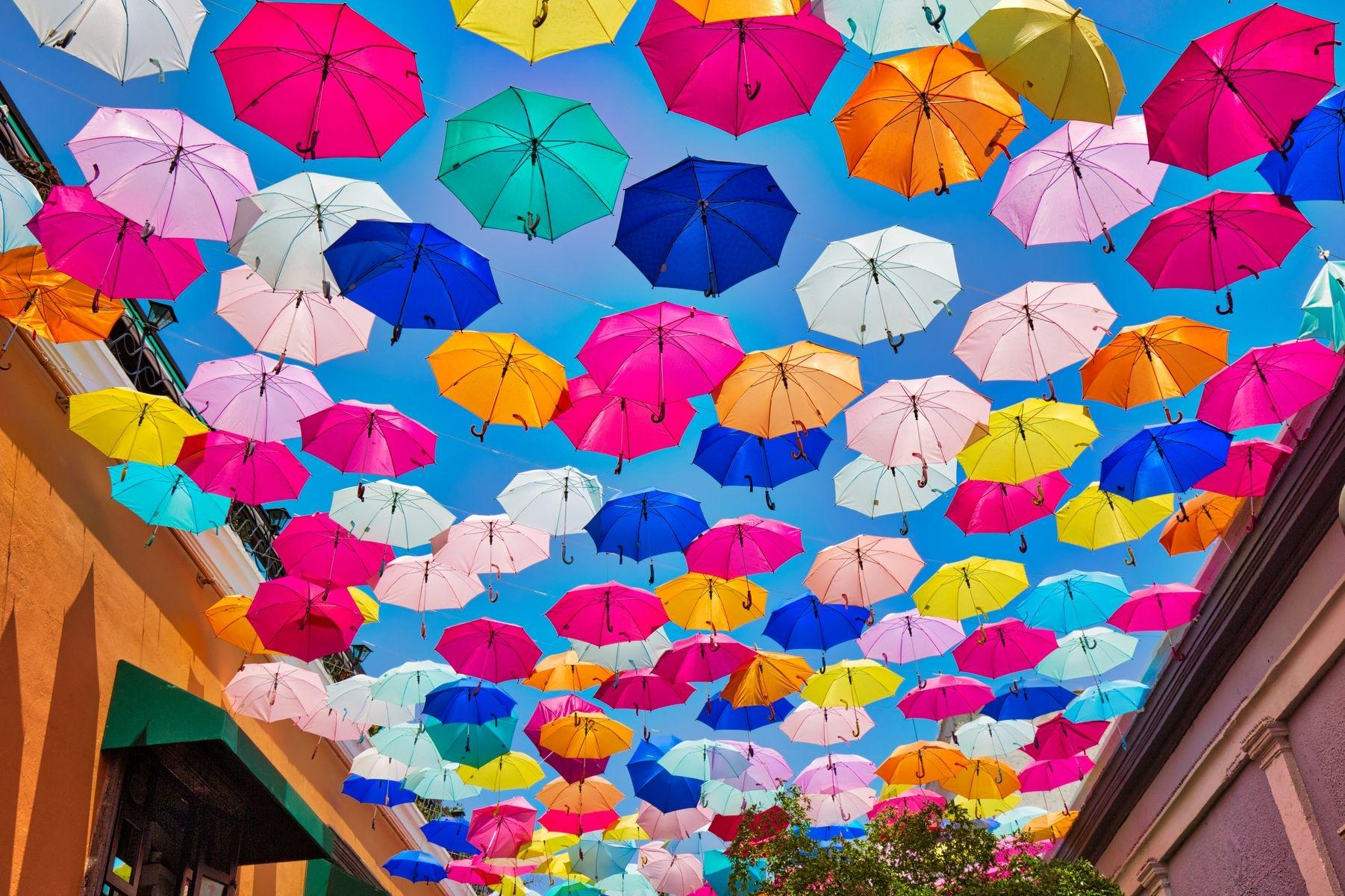 Sedona city umbrellas