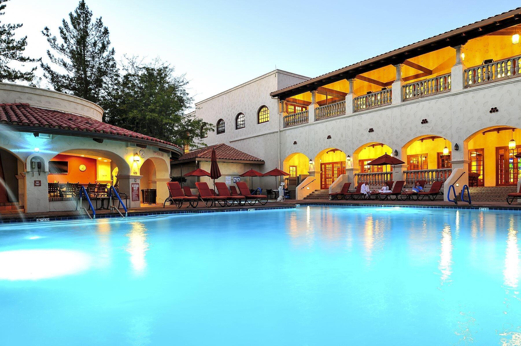 Outdoor Pool at Los Abrigados Resort in Sedona, Arizona