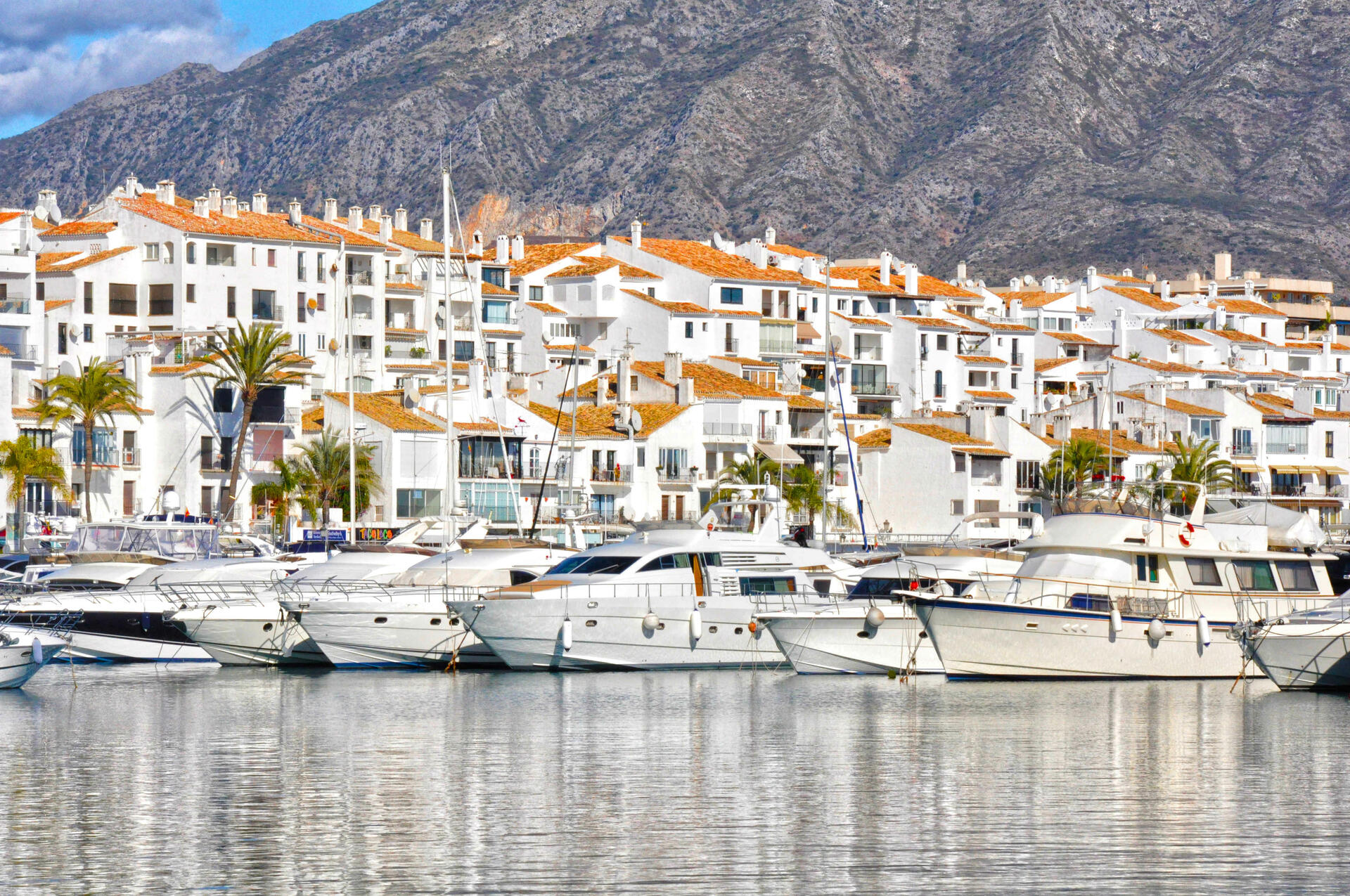 Harbour in Costa del Sol, Spain