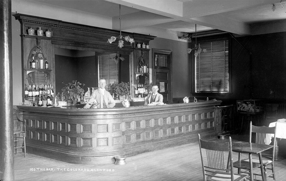 Vintage photo of Hotel Colorado bar