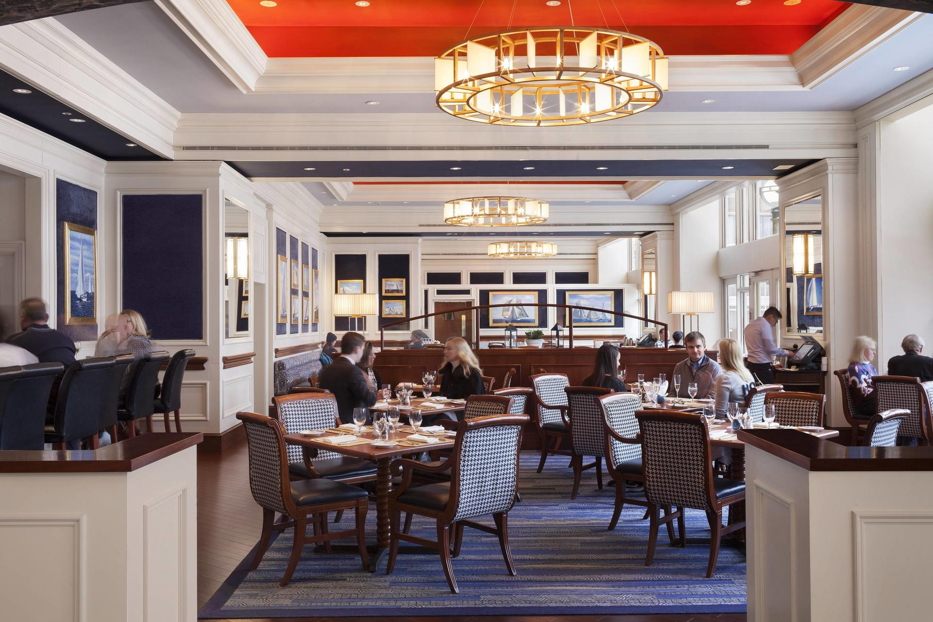 Photo of the interior of Rowes Wharf Sea Grille