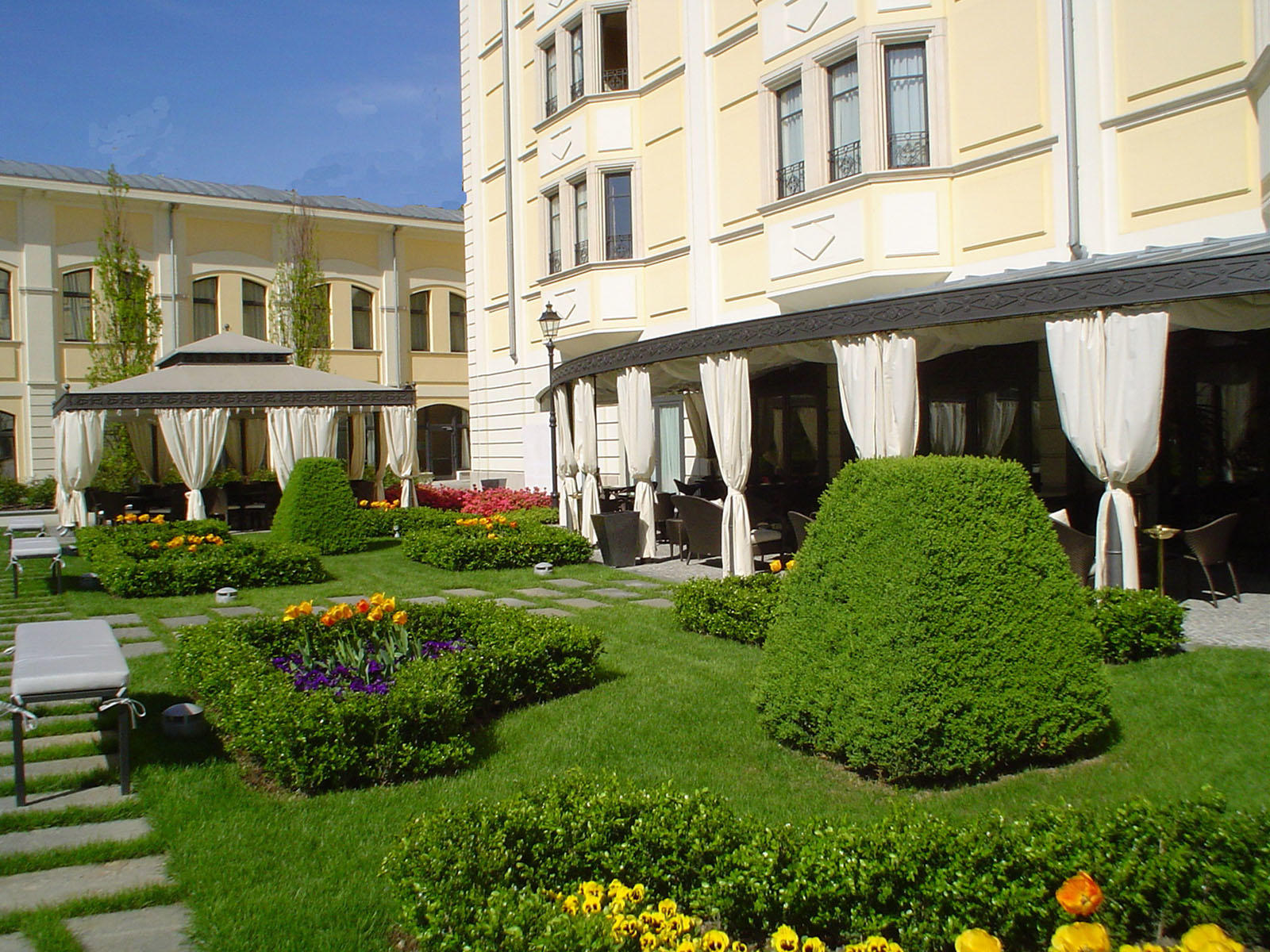 Garden at Grand Visconti Palace in Milan