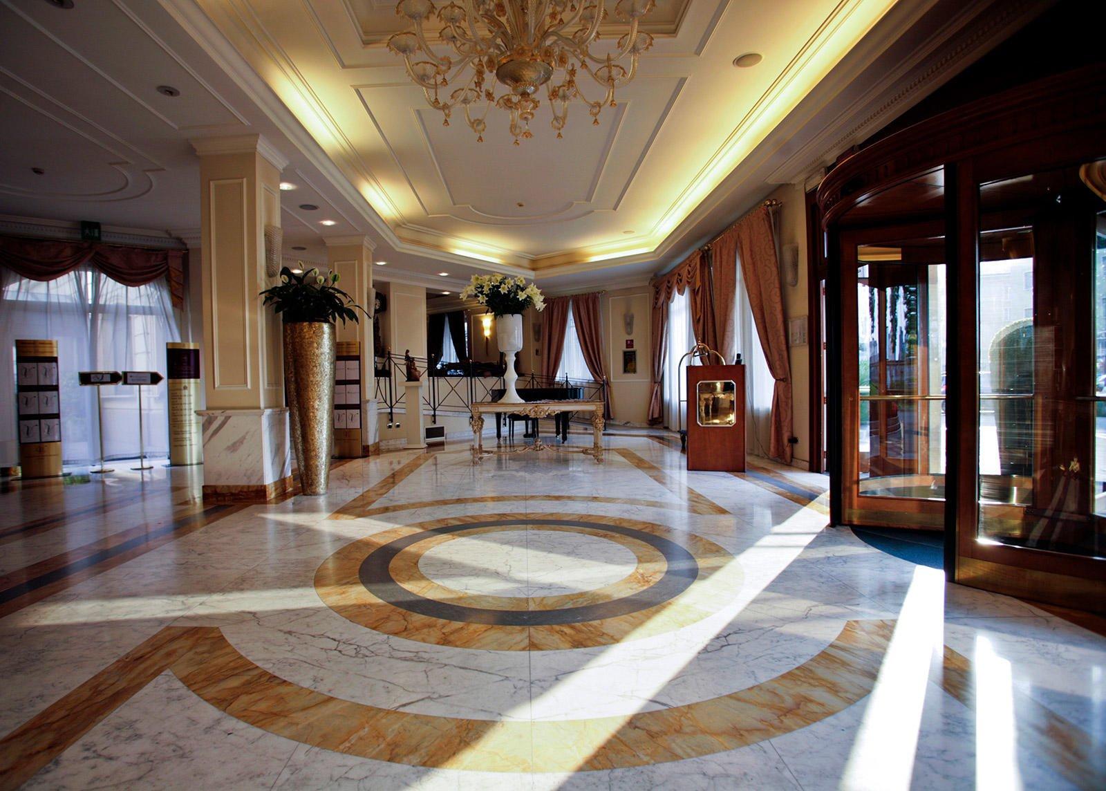 Lobby at Grand Visconti Palace in Milan
