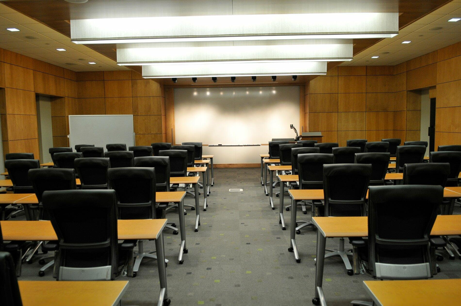 Conference room set up for meeting space