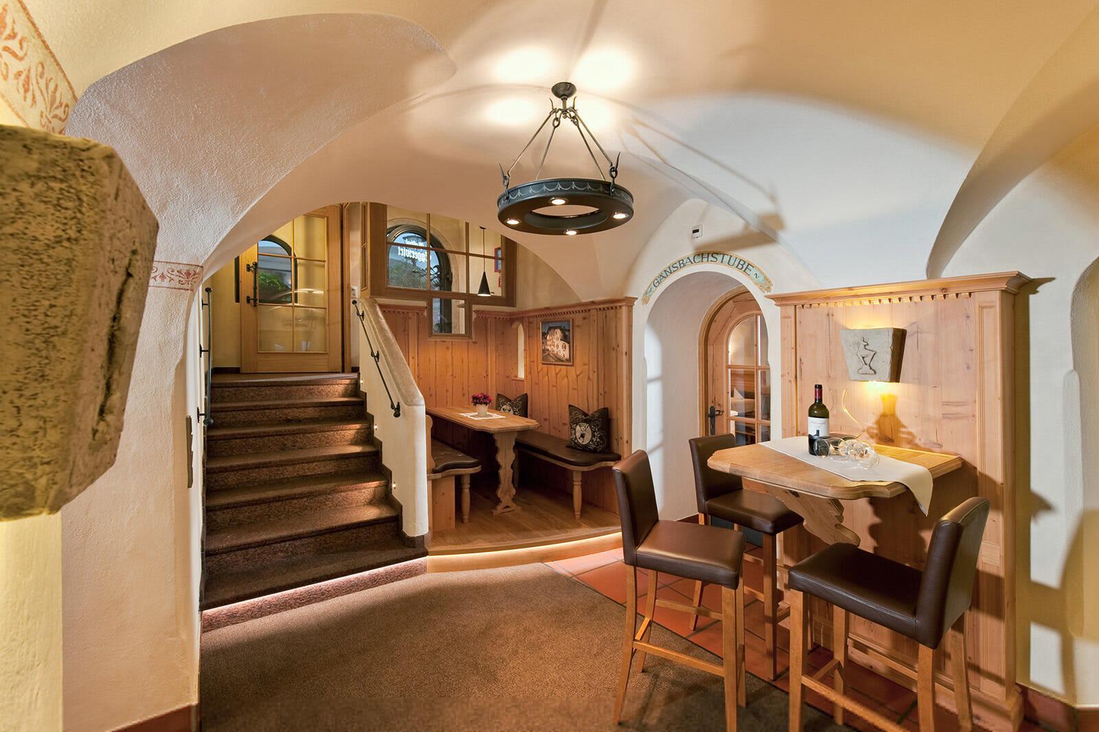 Restaurant at Gasthof Eggerwirt Hotel in Kitzbühel, Austria
