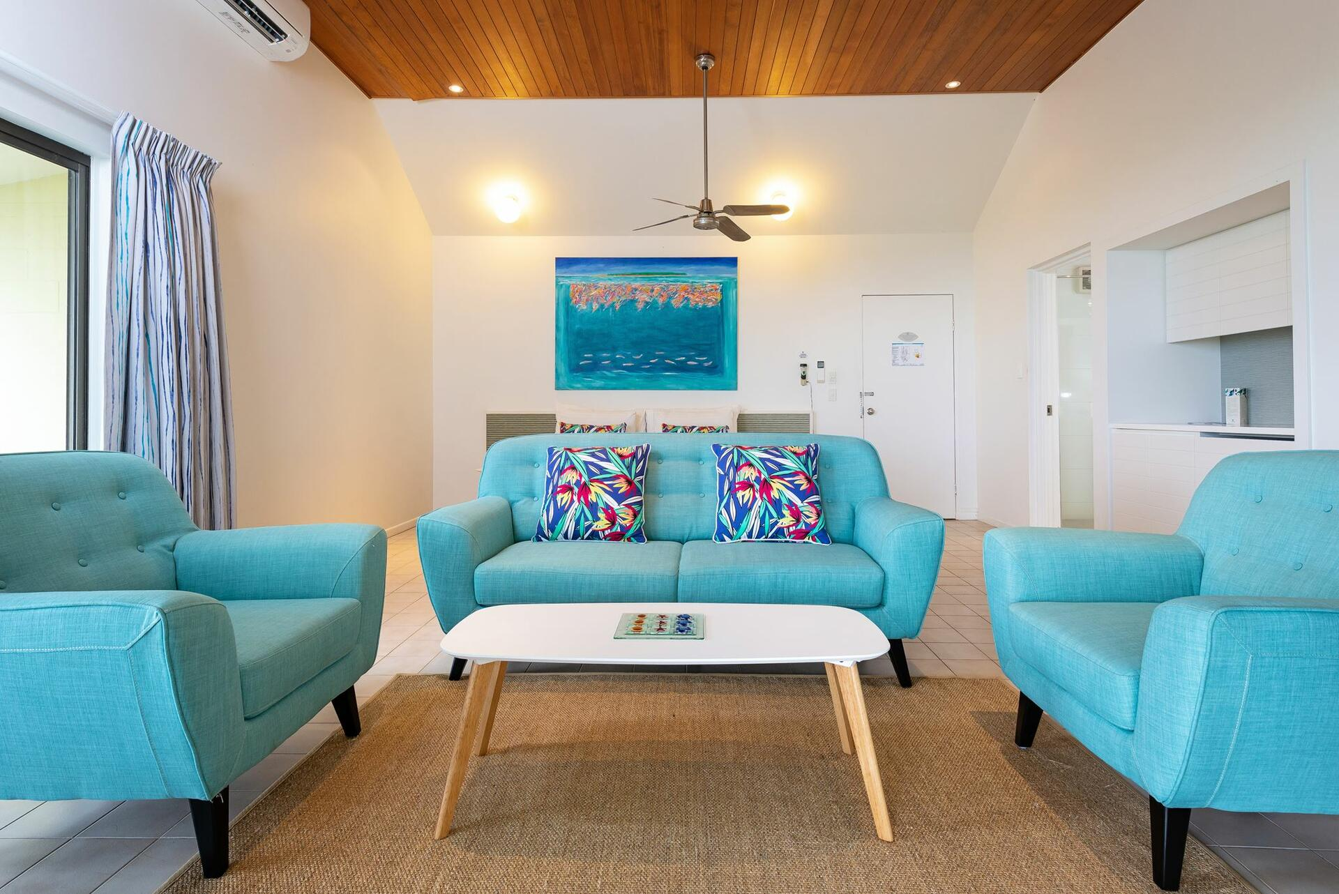 Spacious Point Suite at  Heron Island Resort