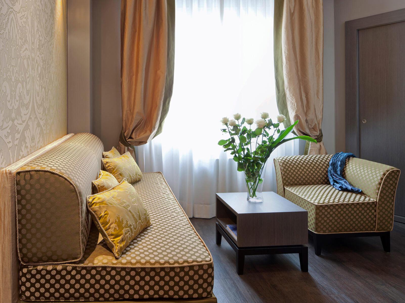 Livingroom at Hotel Mozart in Milan