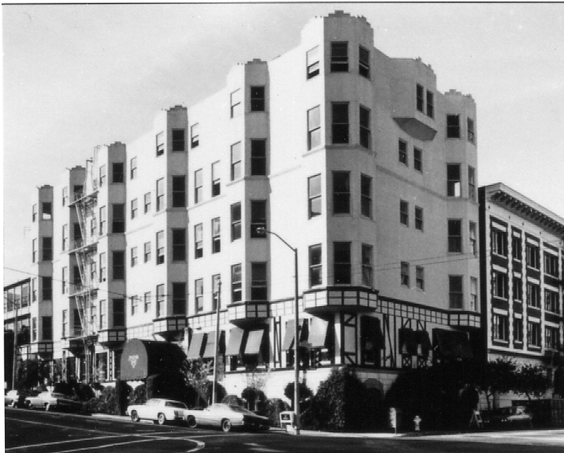 Photo of the hotel exterior as it was in 1980