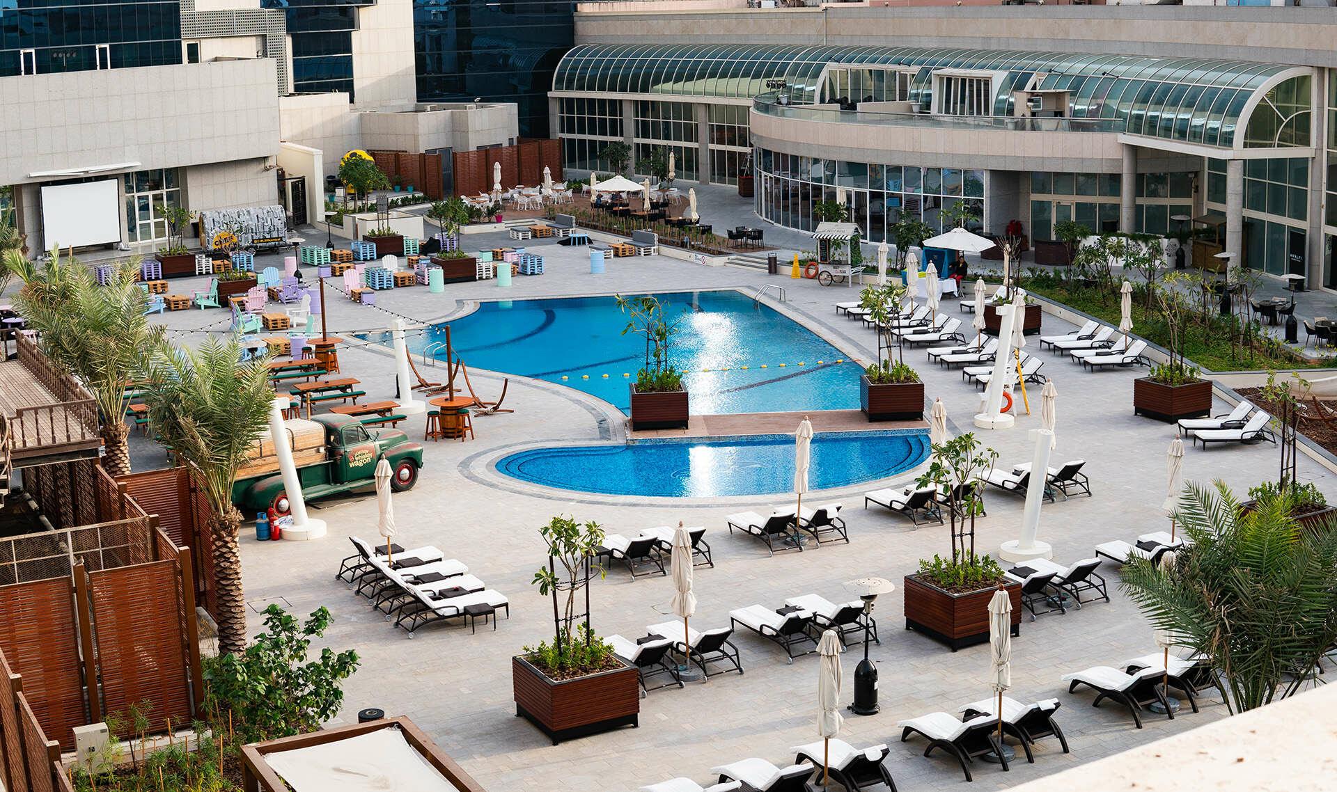 Swimming Pool at Al Ain Palace Hotel in Abu Dhabi, United Arab E