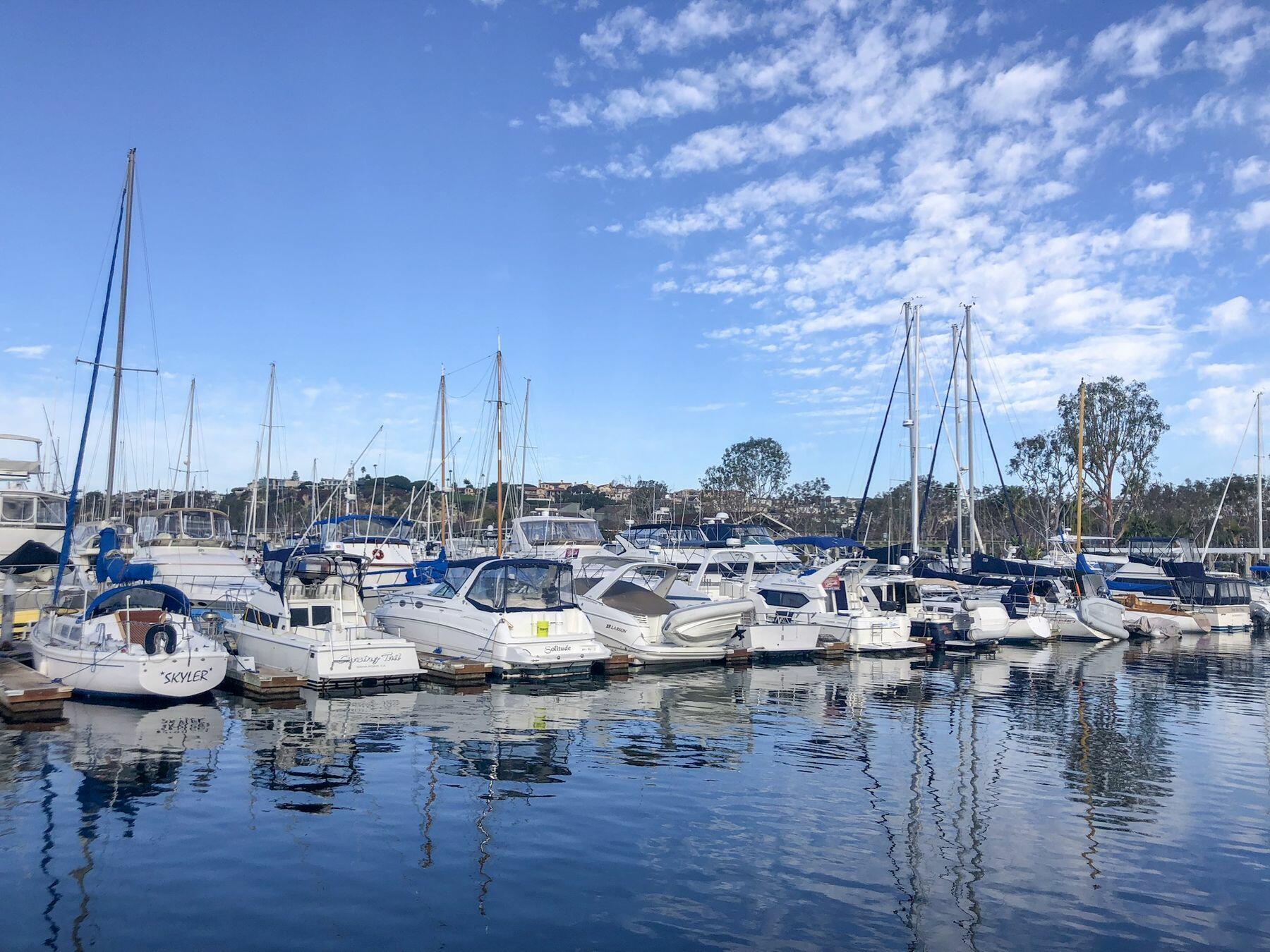 Marina boat view