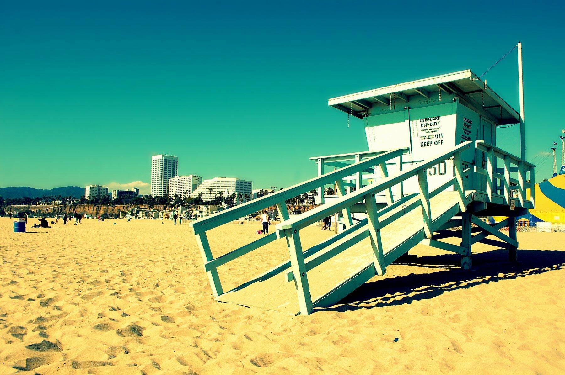 Lifeguard shack on a beach