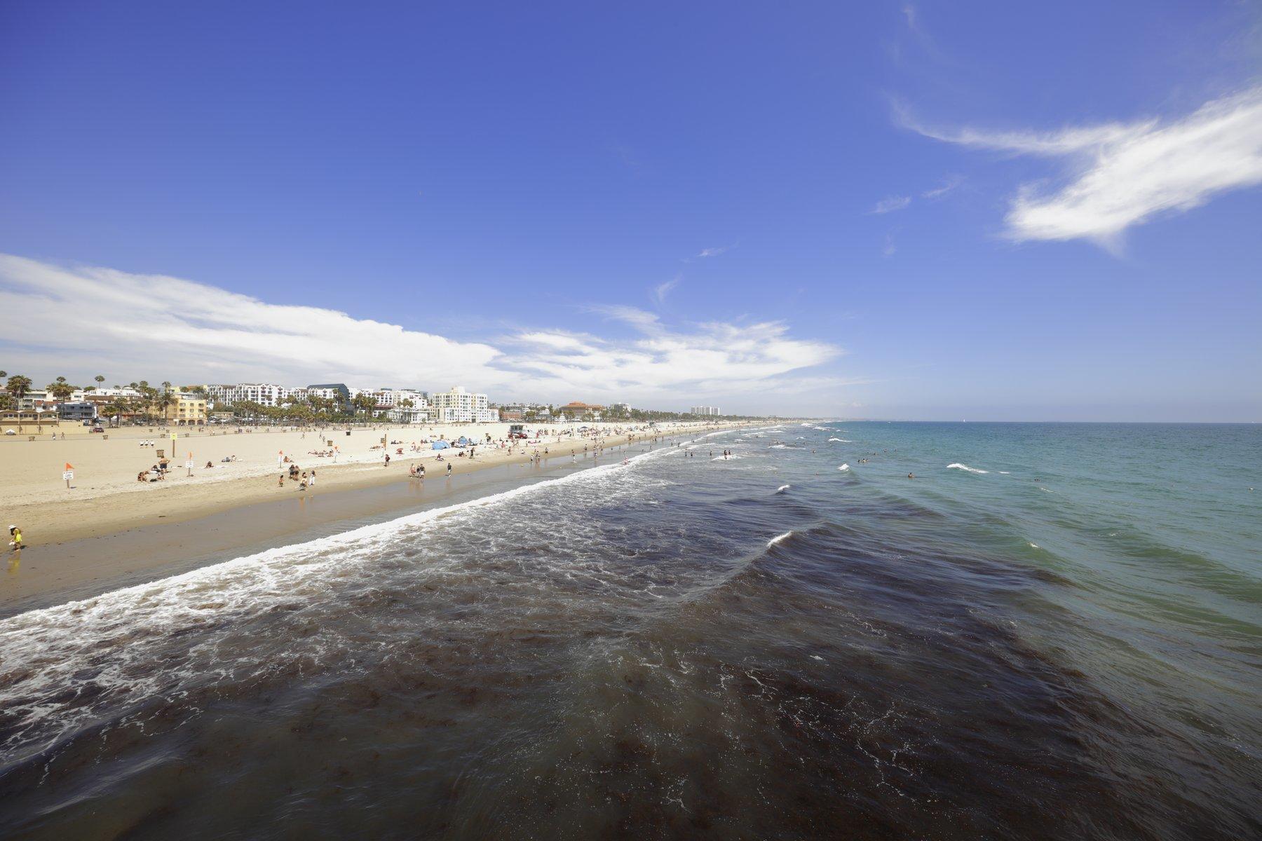 Wide photo of Santa Monica beach