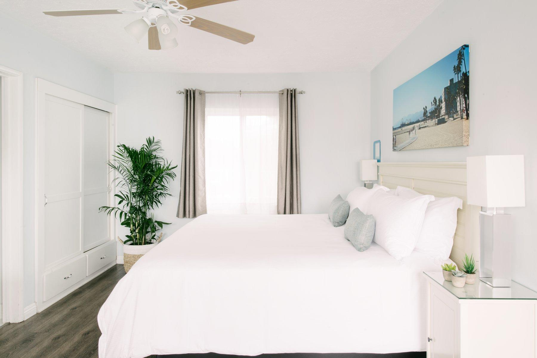 Spacious hotel room with King bed