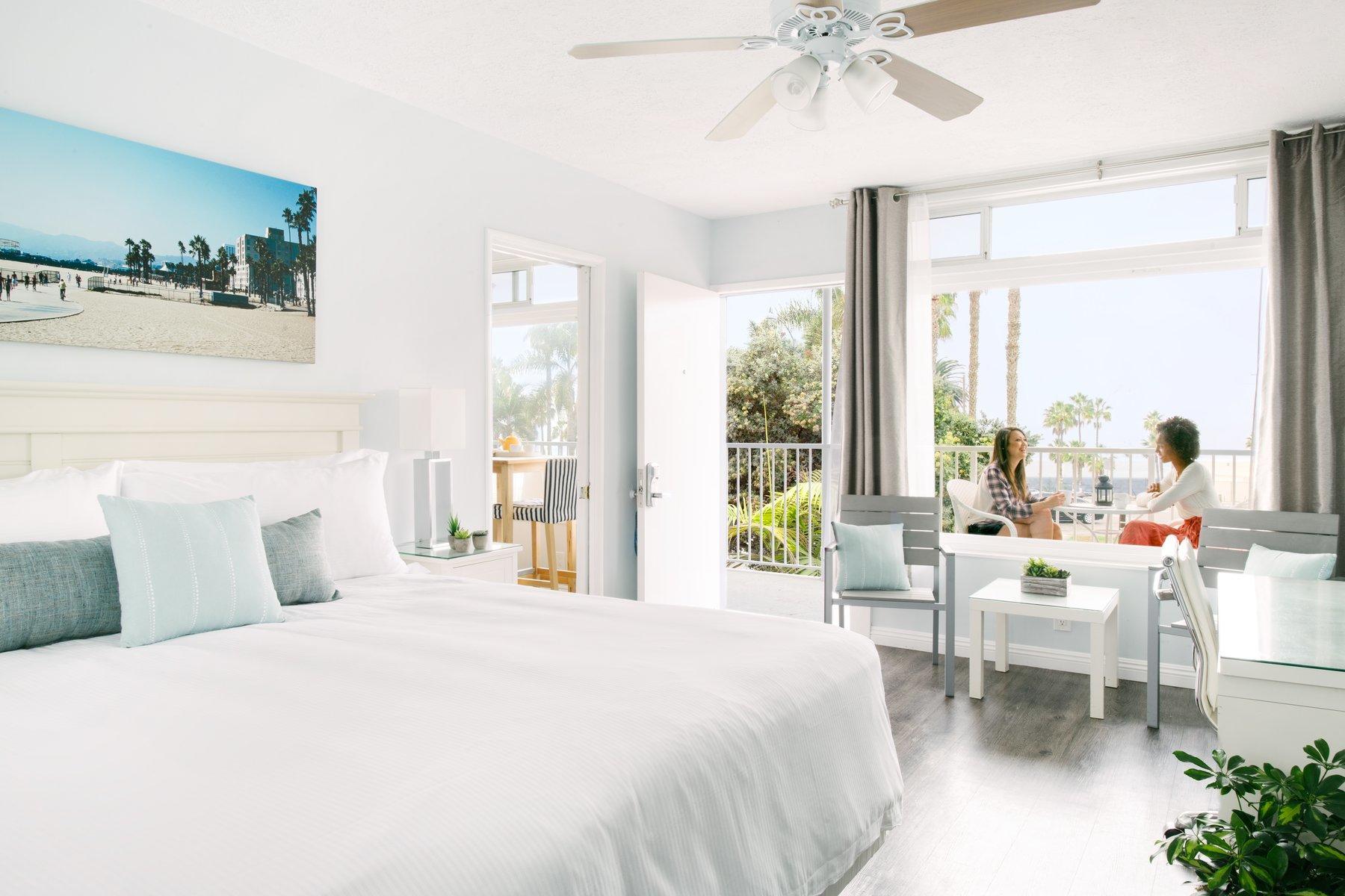 Spacious ocean-view hotel room