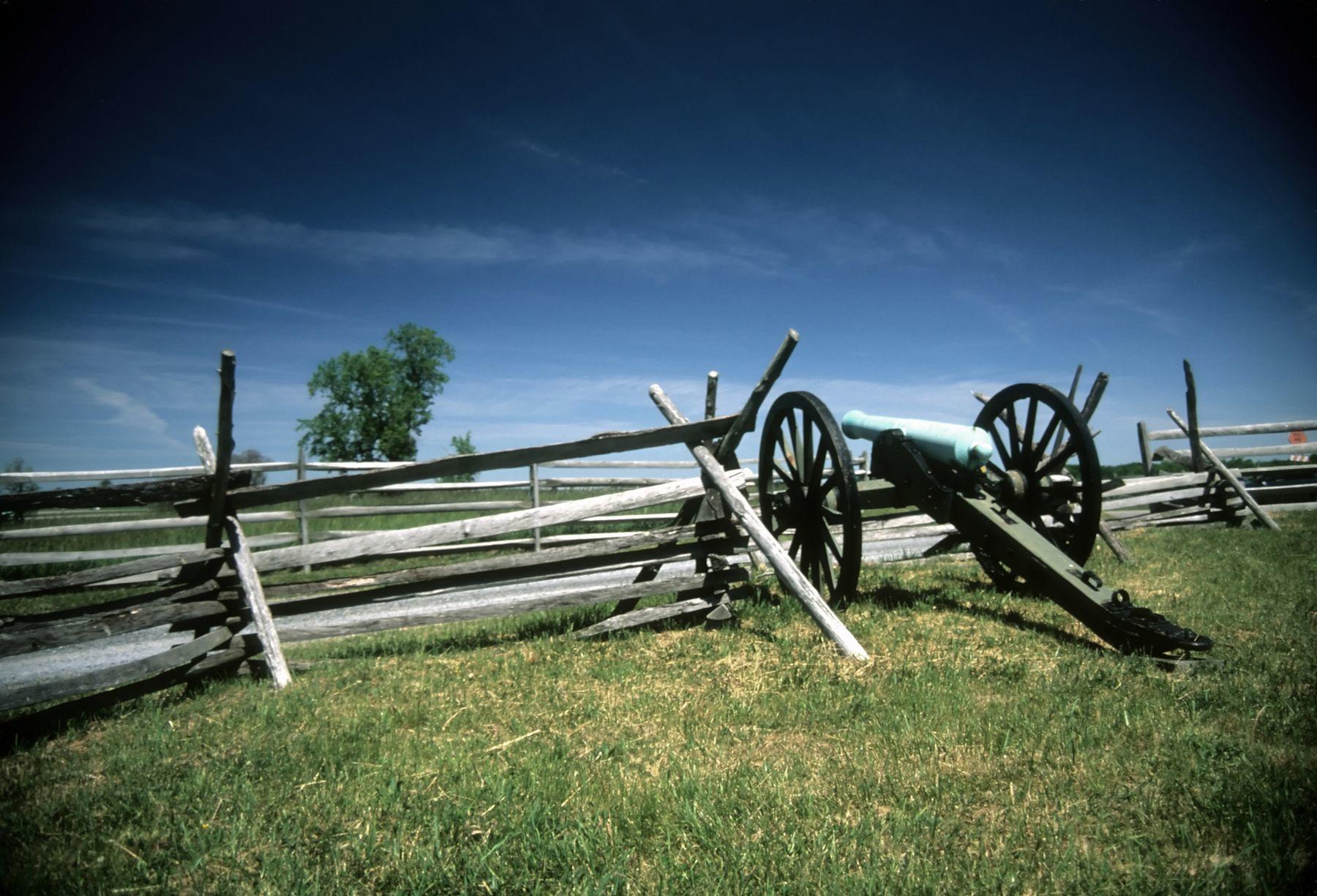 Cannon on Gettysburg Battlefield.