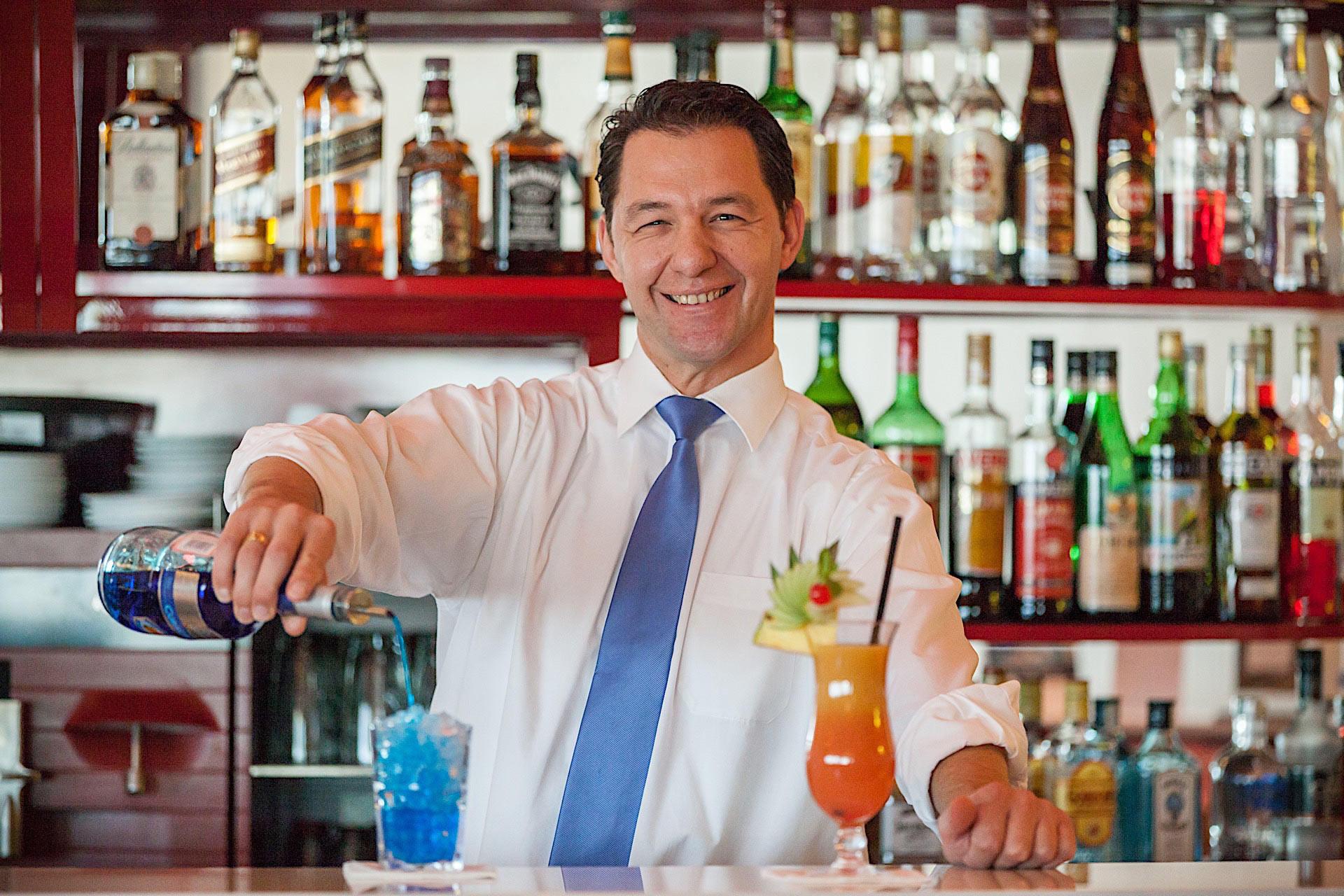 Barman at Airport Hotel Basel