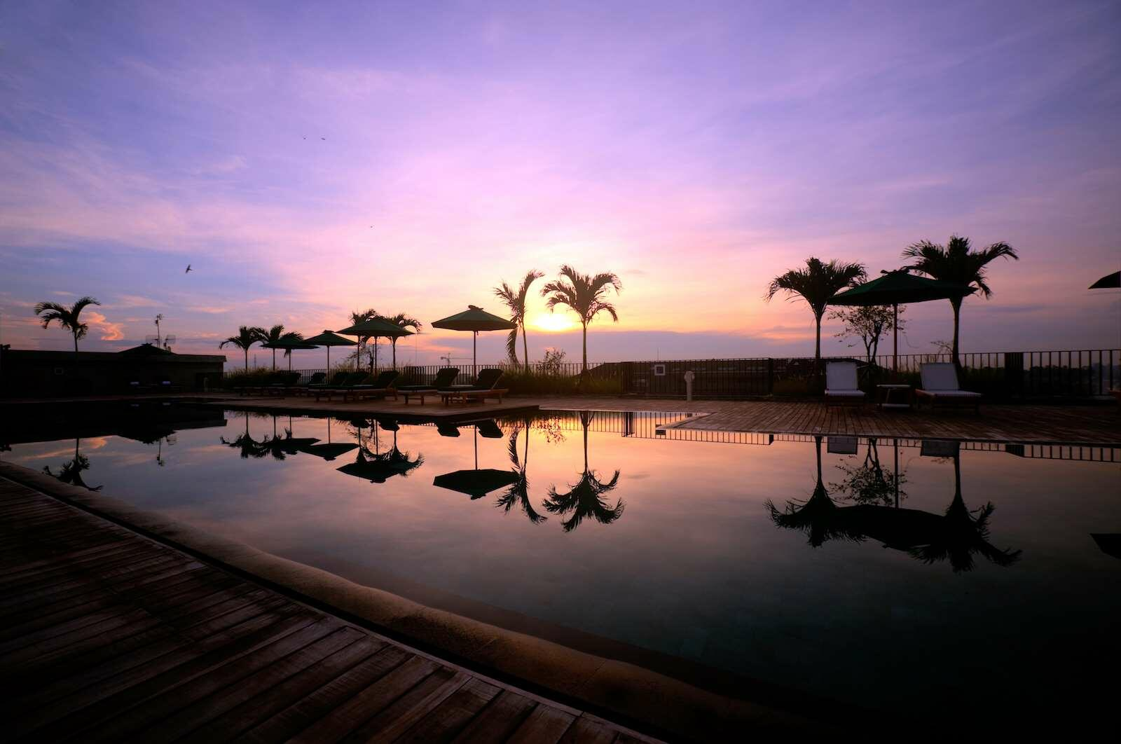 Swimming Pool Sunset View at U Paasha Seminyak Bali