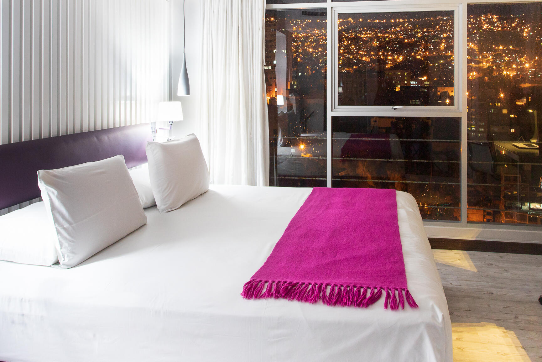 Stannum Boutique Hotel King bedroom with City Views