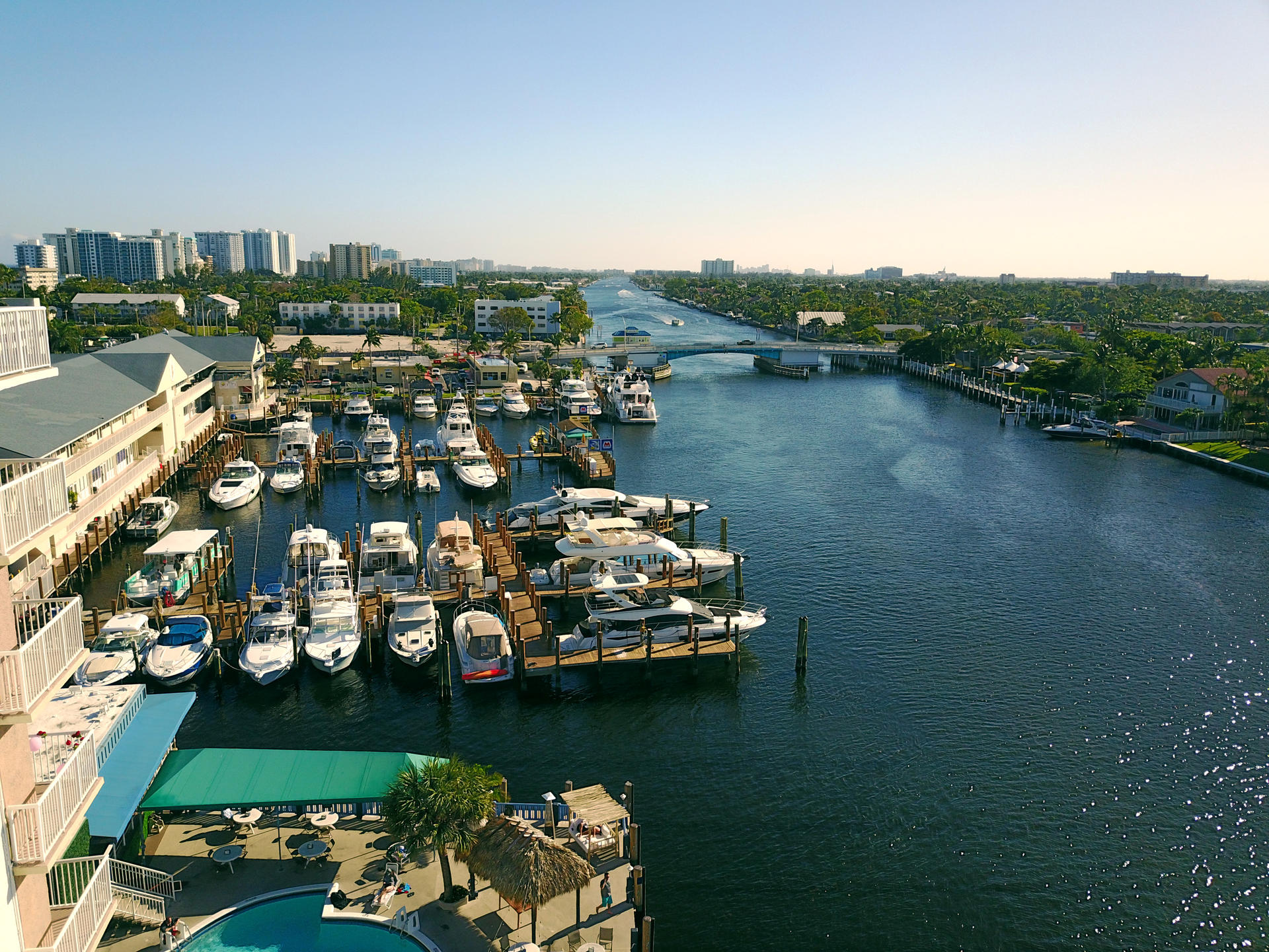 Marina view from above