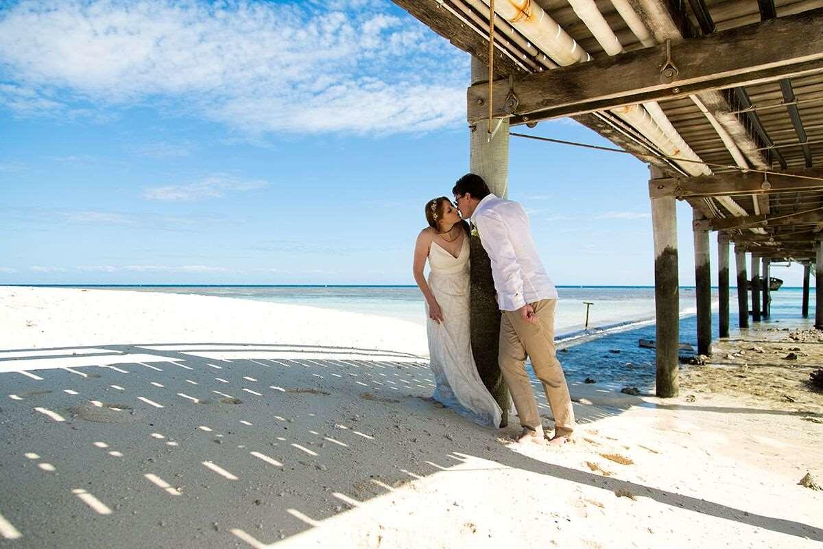 Wedding at Heron Island Resort