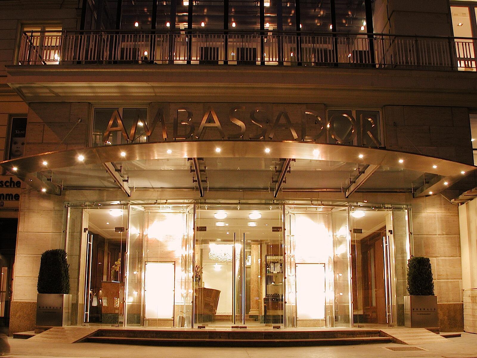 Entrance at Ambassador Hotel in Vienna