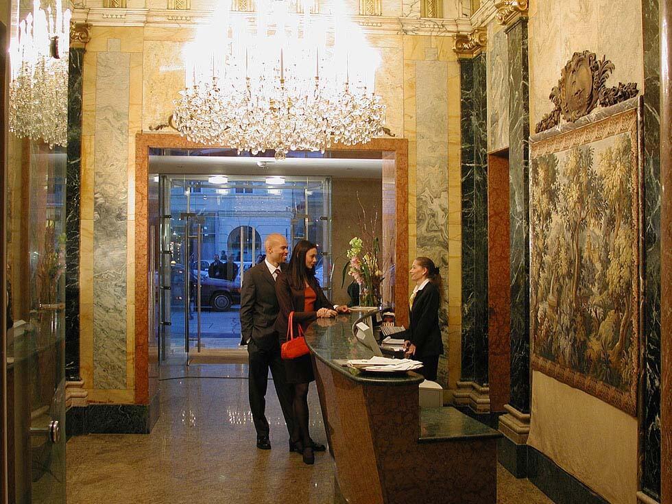 Reception at Ambassador Hotel in Vienna