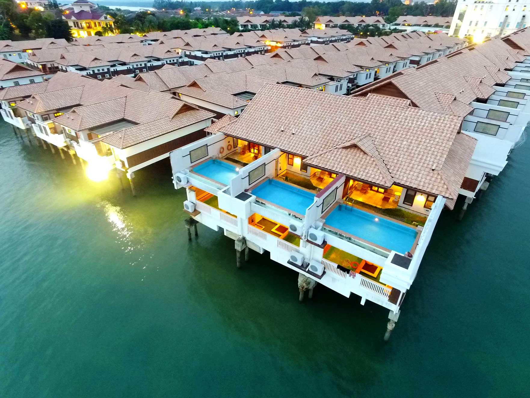 Balinese-inspired Port Dickson villas with private pools.