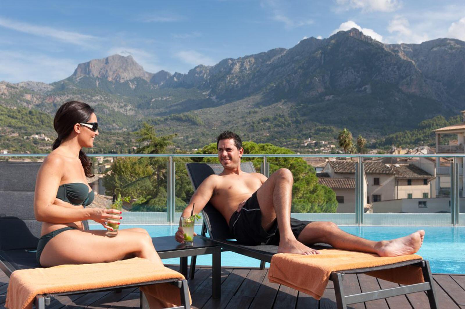 Pool at Gran Hotel Sóller in Majorca