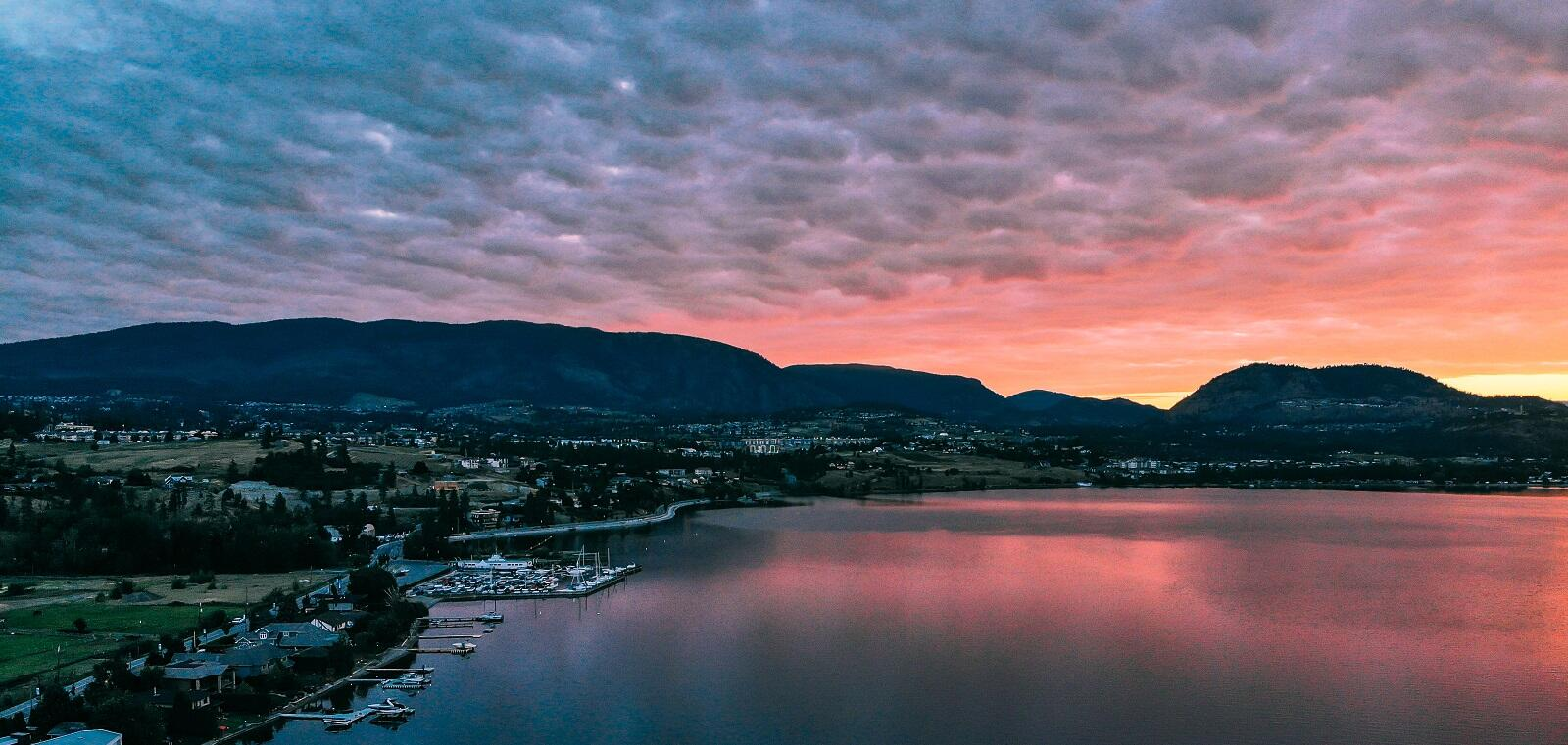 Sunset on Lake Kelowna