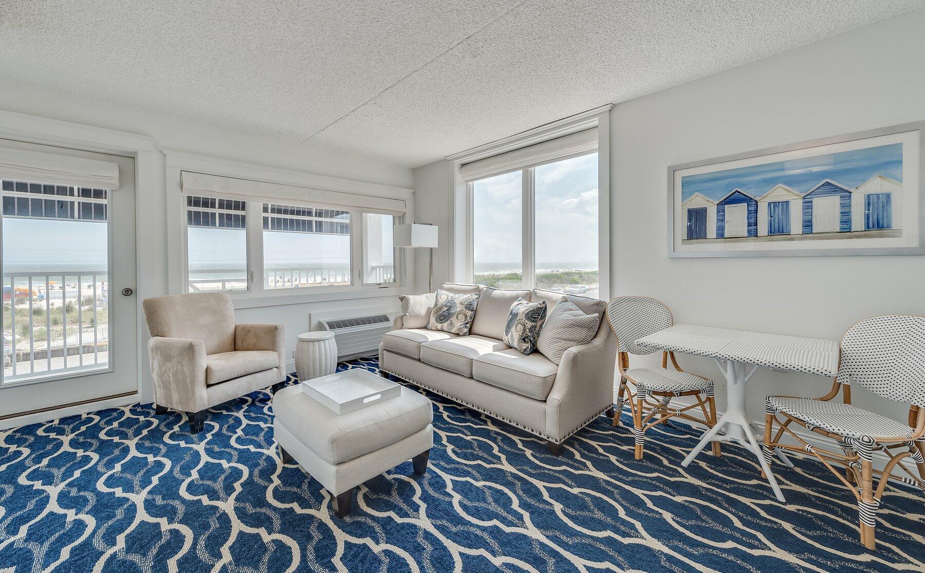Oceanfront Suite Living Room