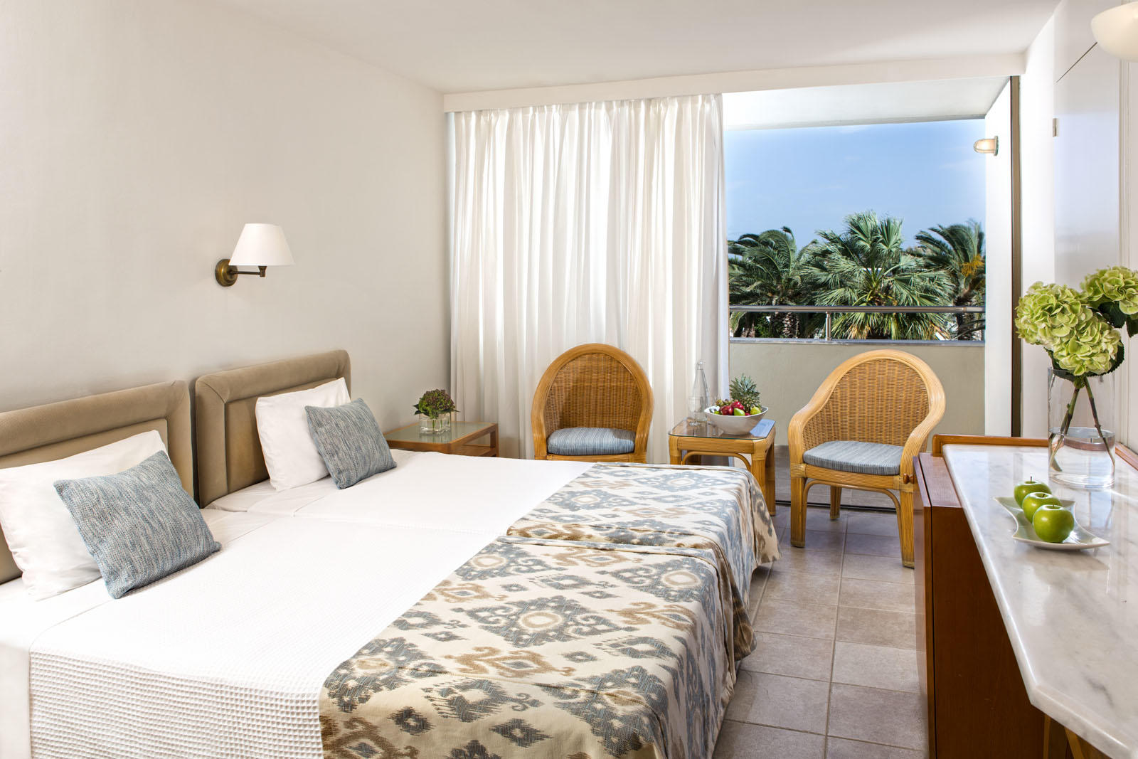 Double room at Agapi Beach Resort in Crete