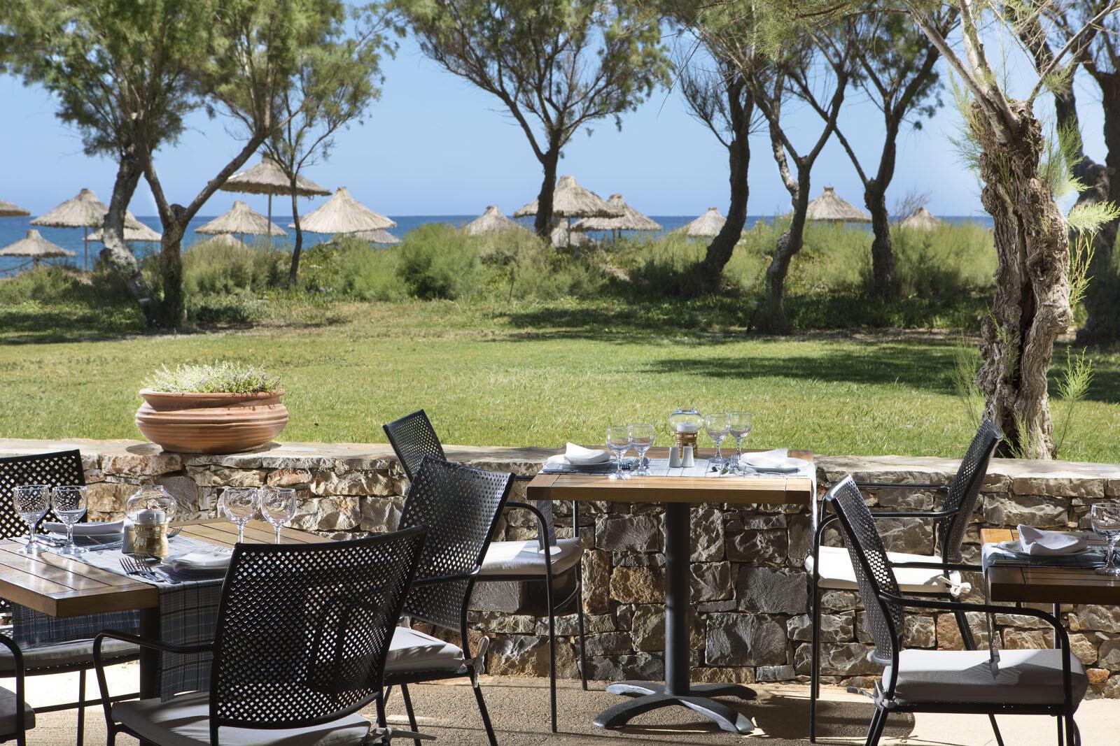 Akrogiali Taverna at Agapi Beach Resort in Crete