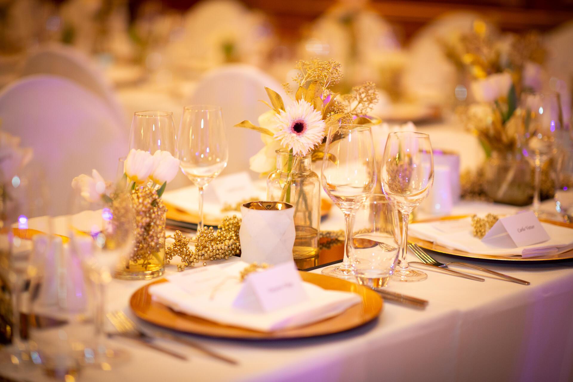 Table Set Up Detail - Patrick Hellman Schlosshotel